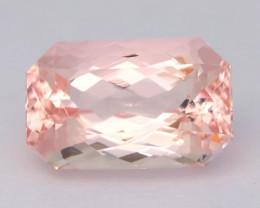 3.76Ct Morganite Octogon Cut VVS Madagascar Sweet Pink Morganite AT04