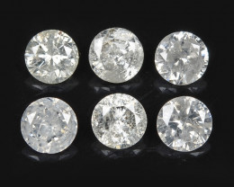 Diamond 0.43 Cts 6pcs Untreated Fancy White Color Natural Diamond