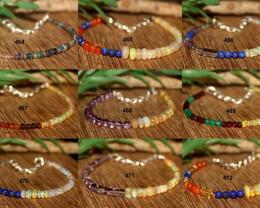 Natural Mixed Gemstone Bracelets Lot