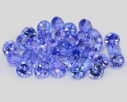 Tanzanite 9.41 Cts 36 pcs Amazing rare A+ Violet Blue Color Natural Gemston