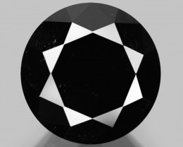 Diamond 3.70 Cts Amazing Rare Fancy Black Color Natural