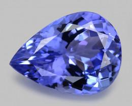 *No Reserve*Tanzanite 3.39 Cts Amazing Rare A+ Violet Blue Color Natural Ge