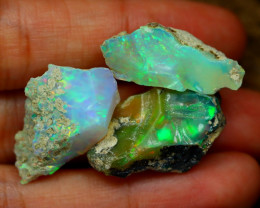 Welo Rough 30.75Ct Natural Ethiopian Play Of Color Rough Opal C3001