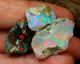 Welo Rough 21.10Ct Natural Ethiopian Play Of Color Rough Opal C3002
