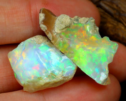 Welo Rough 22.40Ct Natural Ethiopian Play Of Color Rough Opal C3007
