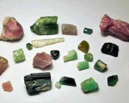 Amazing Natural max color rough Tourmaline parcel 100Cts #GN100