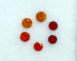 ~Beautiful~  0.88 Cts Natural Fire Opal Round 4mm Mexico
