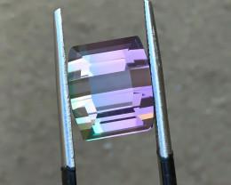 HGTL CERTIFIED 5.54 Ct Natural Bi Color Transparent Tourmaline IF Gemstone