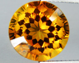 6.72Cts Wow Amazing Natural Citrine Round precision Cut  Collector Gem SEE