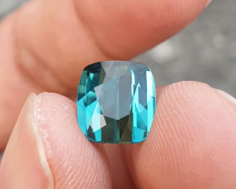 NO HEAT 3.57 CTS GORGEOUS VVS TOP QUALITY INDICOLITE BLUE TOURMALINE MOZAMB