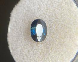 DEEP Blue Sapphire 1.41ct Oval Cut Loose Rare Natural Gemstone 7x5mm