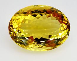27.92  ct. 100% Natural Top Yellow Golden Citrine Unheated -IGE Certificat