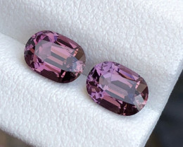 Attractive Glossy Grapes Color Spinel Pair