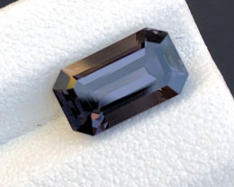 Dazzling Charcoal Gray Fantasy Cut Faceted Gem