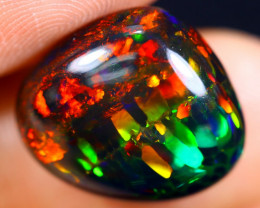 7.63cts Natural Ethiopian Welo Smoked Opal / HM1463