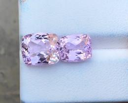 9.60 Ct Natural Pink Transparent Kunzite Gemstones Parcels