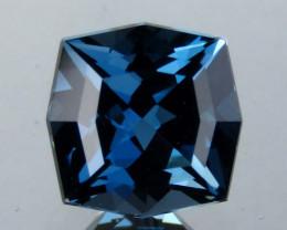 1.60 cts Genuine Cushion Custom Cut Natural London Blue Topaz Loose Gemston