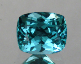 1.18 cts Amazing Cushion Shape Natural Paraiba Blue Apatite Loose Gemstone