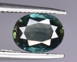Top Bicolor Blue Green Sapphire 0.870 CTS