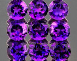 5.00 mm Round 9 pcs 4.27cts Purple Amethyst [VVS]