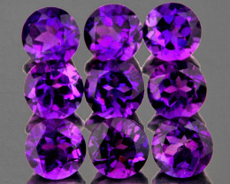 5.00 mm Round 9 pcs 4.05cts Purple Amethyst [VVS]