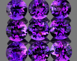 5.00 mm Round 9 pcs 4.55cts Purple Amethyst [VVS]