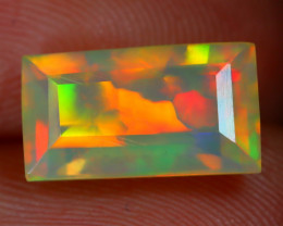 1.77Ct Bright Neon Rainbow Flash Color Play Faceted Welo Opal B3109
