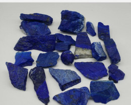 Lapis Lazuli 506 grams Rough 21 pcs  Afghanistan mines.  If you buy multipl