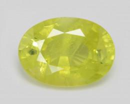 Chrysoberyl 1.07 Cts Very Rare Yellowish Green Color Natural Gemstone