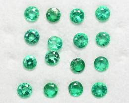 Colombian Emerald 10.95 Cts 25 Pcs Natural Vivid Green Loose Gemstone