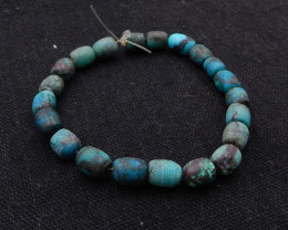 53cts Turquoise Necklace ,Nugget Turquoise Necklace ,Turquoise Beads ,Lucky
