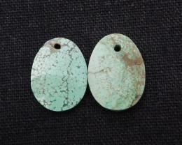 15cts  2pcs Turquoise Pendant ,Natural Gemstone ,Turquoise Pendant H1796