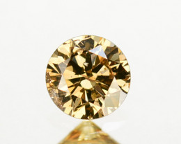 0.35 Cts Natural Untreated Diamond Fancy Champagne 4.50mm Round Cut Africa