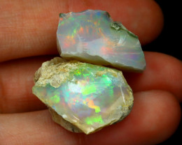 Welo Rough 30.98Ct Natural Ethiopian Play Of Color Rough Opal C12