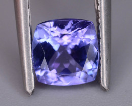 Deep Color 1.00 cts  Top Grade Clean Tanzanite Eye Catching Ring Size