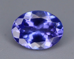 Deep Color 1.40 cts  Top Grade Clean Tanzanite Eye Catching Ring Size