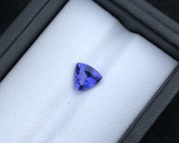 Deep Color 0.95 cts  Top Grade Clean Tanzanite Eye Catching Ring Size