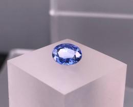2.10cts Certified Ceylon CORNFLOWER  BLUE SAPPHIRE