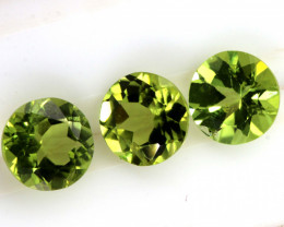 2.6 CTS PERIDOT FACETED PARCEL 3PCS CG-3314