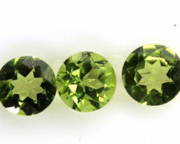 2.55 CTS PERIDOT FACETED PARCEL 3PCS CG-3315