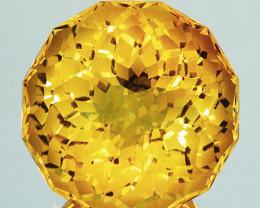 ~CUSTOM CUT~ 8.79 Cts Natural Golden Orange Citrine Fancy Round Brazil