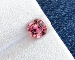1.30 ct Hot Pink & Bubblegum Pink Asscher Cut Tourmaline