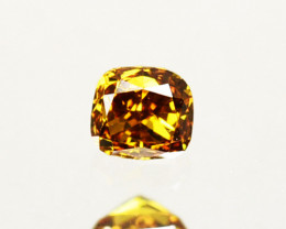 Splendid!! 0.10 Cts Natural Untreated Diamond Fancy Yellow Cushion Cut Afri