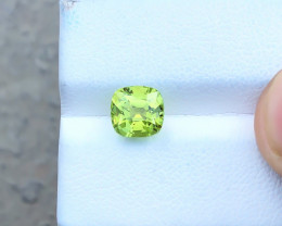 HGTL CERTIFIED 2.05 Ct Natural Yellowish Green Internally Flawless Tourmali