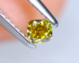 0.23cts NATURAL African Yellow Green Fancy Diamond / KL934