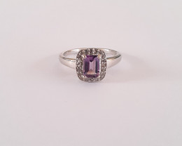Amethyst 925 Sterling silver ring #36516