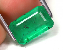 Zambian Emerald 1.64Ct Octagon Cut Natural Green Color Emerald C0216