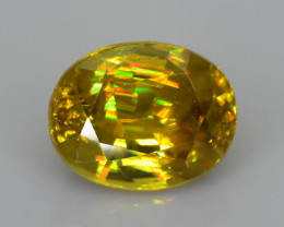 Rare AAA Fire 3.45 ct Malayaite Sphene Sku-76