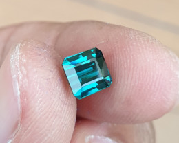 UNHEATED 1.70 CTS STUNNING IF-VVS INDICOLITE BLUE TOURMALINE MOZAMBIQUE