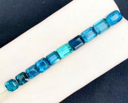 9.50 cts Blue Tourmaline Gemstones Lot